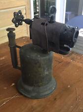 Vintage Otto Bernz Co. Newark N.J. Brass blow torch #57 Pump In Handle.