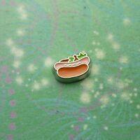 Hot Dog Food Charm For Locket Keepsake Necklace Keychain Etc
