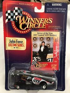 1998 WINNERS CIRCLE, 1/64 SCALE, JOHN FORCE , LIFETIME SERIES, BLACK GTX