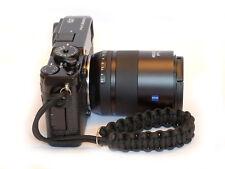 Black Concave soft release button + Paracord Wrist Strap Set Fuji XT2 XPro3 XT3