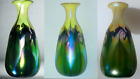 Signed Quezal Decorated Art Glass Vase