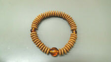 "Tenjiku "" Indian Bodhi "" 54pcs Bracelet Rosary With Pressed Amber Made In Japan"