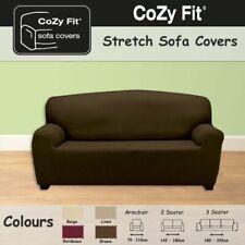 Sofa Cover Sofa Skin Sandra 3 Seater Chocolate 180-240cm NEW (P)