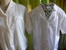 Schön Paket = T40-42 = 2 Korsagen Baumwolle Stickereien,= Weißer Kurzarm T-Shirt
