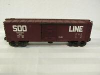 VINTAGE 1982 LIONEL SOO LINE BOX CAR 9217 MODERN ERA 6464-009 FRAME OPERATING