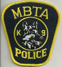K-9  DHF  MASSACHUSETTS BOSTON  MBTA  Police Patch Polizei Abzeichen Hundeführer
