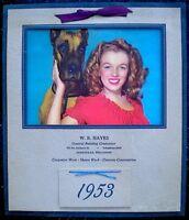 Marilyn Monroe 1953 Vintage Pinup Calendar Dame and Dane Norma Jeane EX/NM COA