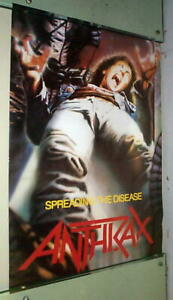 ANTHRAX Spreading The Disease Vintage Poster ---