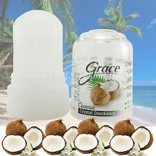 40 G. Grace Coconut Natural Deodorant Roll On Stick Alum Crystal Body Roll On