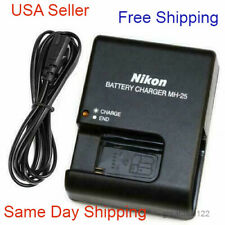 Battery Charger for Nikon MH-25 EN-EL15 D600 D610 D750 D800 D810 D7000 D7100 USA