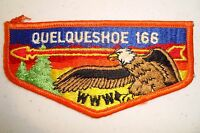 OA QUELQUESHOE LODGE 166 CALCASIEU AREA COUNCIL SCOUT PATCH ORANGE SERVICE FLAP