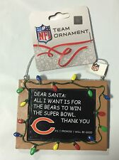 Chicago Bears Christmas Tree Ornament Chalkboard - All I want is a Superbowl