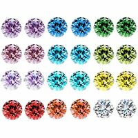 Wholesale A Set Of 12 Pairs Clear Coloured Crystal Ear Studs Earrings Shinny UK