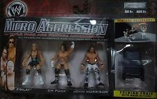 WWE MICRO AGGRESSION FINLAY CM PUNK & JOHN MORRISON FIGURES
