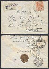STORIA POSTALE Colonie LIBIA 1931 Raccomandata da Apollonia a Trieste (Z3)
