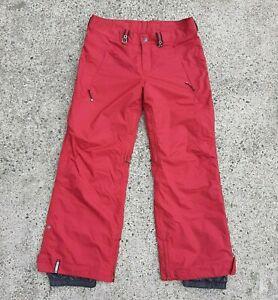 Bonfire Mens Sz L Red Radiant Snowboard Snow Ski Pants 36 x 32 Adjustable Waist