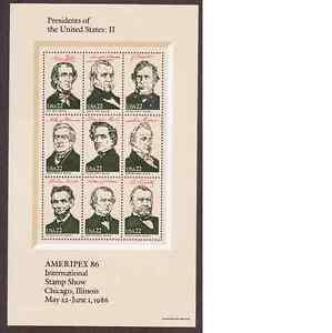 Scott #2217....22 Cent...Presidents II.... Sheet of 9