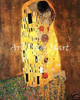 The Kiss, Gustav Klimt - CANVAS OR PRINT WALL ART Best $$