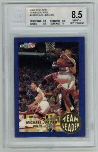 Michael Jordan 1992-93 Fleer Team Leaders #4 BGS 8.5