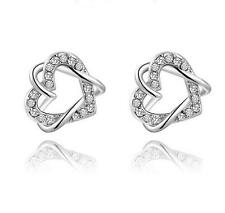 New products 925 silver Heart Earrings New Fashion Women Fine Christmas gifts