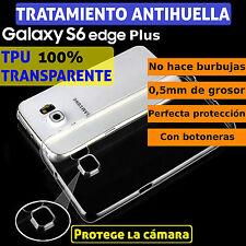 FUNDA TPU DE GEL SILICONA TRANSPARENTE PARA SAMSUNG GALAXY S6 EDGE PLUS +