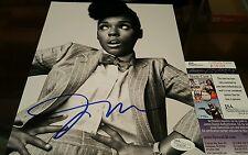 Janelle Monae Signed 8x10 in person. JSA CERTIFIED