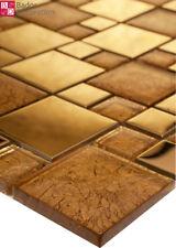 Mosaïque en verre carrelage de Carreaux Mosaique inox doré 1 m²