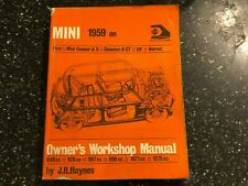 BMC MINI HAYNES WORKSHOP MANUAL COOPER S +RILEY ELF WOLSELEY HORNET 1959-1971