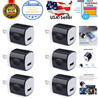 6-Pack 5W USB Single Port Wall Charger Power Adapter Cube Block for Cell Phone
