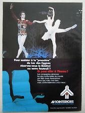 6/1975 PUB AVIOINTERIORS AIRCRAFT SEAT BOLCHOI THEATER RUDOLF NUREYEV FRENCH AD