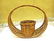 Vintage Handmade basket Wicker Rattan Handel Fixed Coars Woven Decor Easter