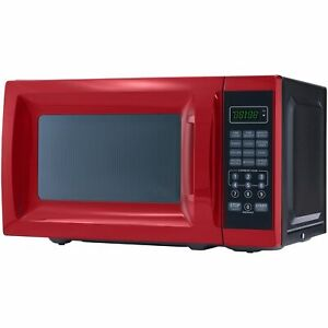 Mainstays 0.7 Cu. Ft. 700W Red Microwave Oven