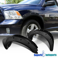 09-17 Dodge Ram 1500 Pocket Rivet Style Fender Flares Wheel Cover Tough Finish