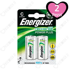 2 Batterie Ricaricabili Mezzatorcia Energizer C 2500mAh