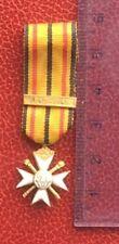 Belgique -Très Jolie  Miniature de la Croix Civique de 1ème Classe 1940-45 WWII
