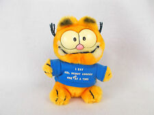 "1981 Vintage Garfield 6"" Plush Toy Girl Scout Cookies T-shirt Very Rare"