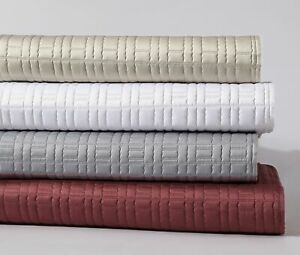 3-Piece Premium Silky Matte Satin Blanket Quilted Bedspread Coverlet Set