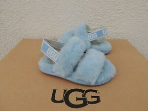 UGG HORIZON FLUFF OH YEAH SLIDE SHEEPSKIN SANDALS, TODDLER US 7/ EUR 23.5 ~NIB