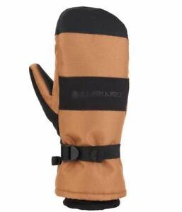 Carhartt A616 Men's W.P. Waterproof Insulated Mitt Brown Black MEDIUM