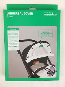 """Wunders Universal Cover """"Breeze"""" Baby Stroller Buggy Mobility 100% Cotton Muslin"""