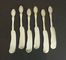 "BEAUTIFUL SET/ 6 VINTAGE ALVIN ""APOLLO"" SILVERPLATED BUTTER SPREADERS"