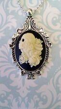 N007 Saint Death Santa Muerte Locket Necklace Day of the Dead Dia de la Muertos