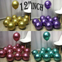 "UK 50PCS CHROME BALLOONS METALLIC LATEX PEARL 12"" Helium Baloon Party Birthday"