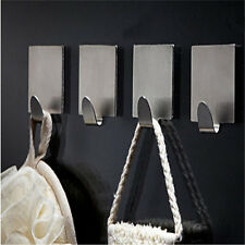 6pcs Stainless Steel Kitchen Wall Door Adhesive Stick Hook Hanger Holder Tool