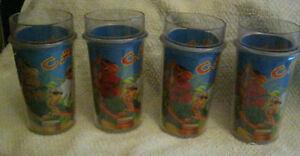 Vintage  Joe Camel Ice Bucket With 4 Glasses 1992