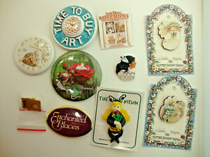 Vintage Lot Of 11 Misc. Collector Buttons