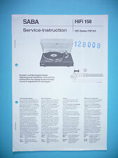 Service Manual For Saba Psp 910, Original