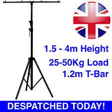 Soundlab T-Bar Aluminium Black 1.5m-4m Telescopic Lighting Tripod Stand 25-50kg