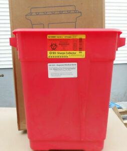 BD SHARPS 305602  9 GALLON CONTAINER WITH SLIDE TOP LID 8/CASE
