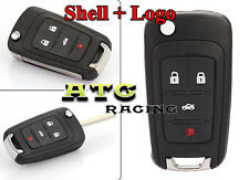 4 Buttons Remote Folding Car Fob Key Shell Case Cover for Chevrolet Cruze Malibu